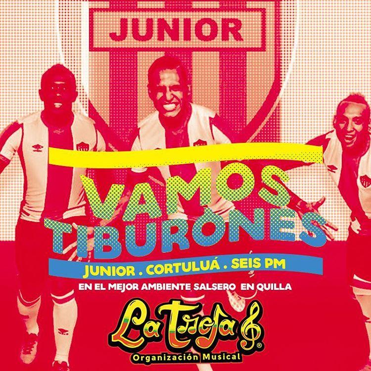 Vamos Tiburones  Vamos a ganar Hoy JuniorVsCortulua TuPapa Barranquillahellip